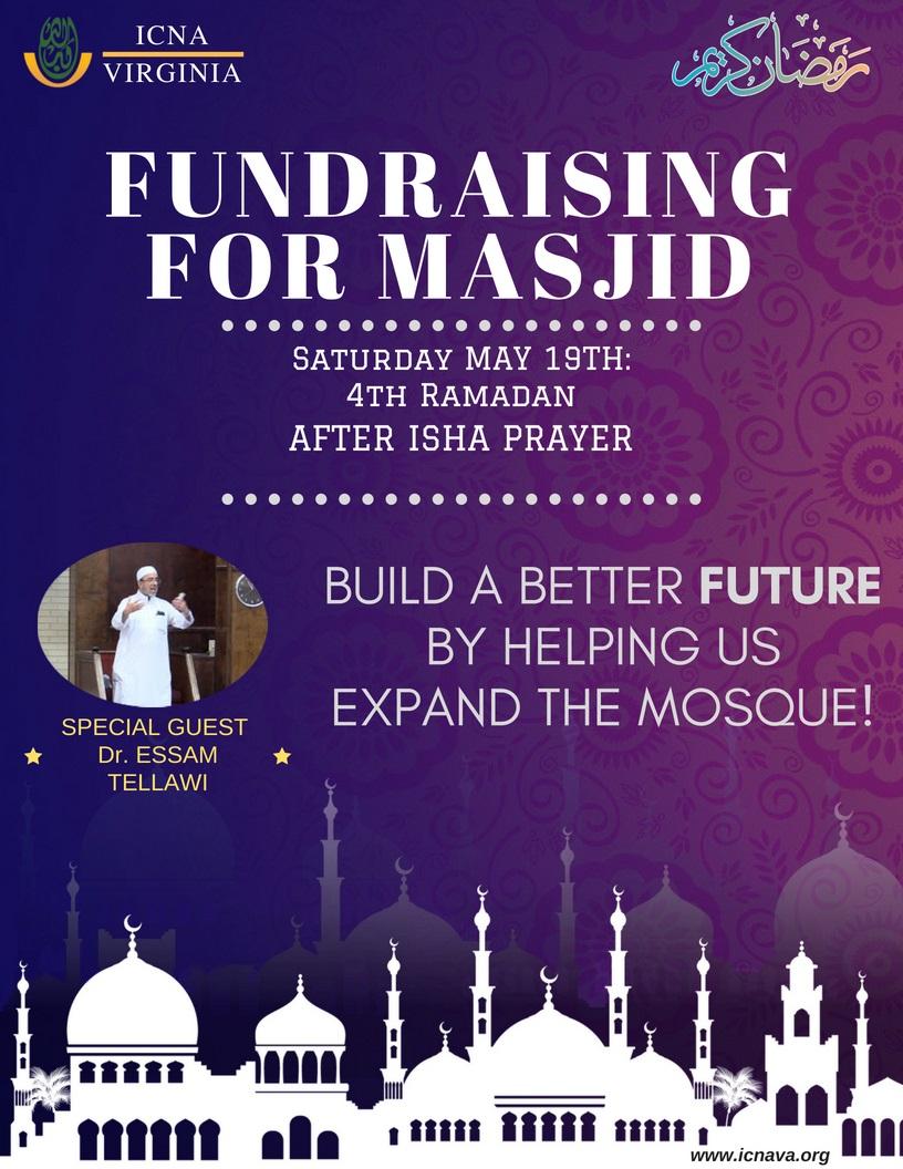 fundraising flyer icna va islamic center